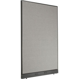 """Electric Office Partition Panel, 48-1/4""""W x 76""""H, Gray"""