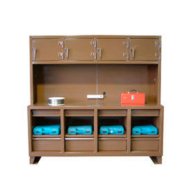 """Strong Hold 4-Employee Personal Workstation - 89""""W x 24""""D x 80""""H"""
