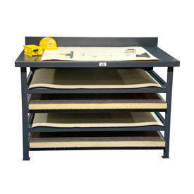 """Strong Hold Print Workstation - 56""""W x 38""""D x 36""""H"""