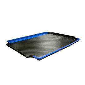 "Plastic Containment Tray 30""W x 24""D Blue, Black & Blue"