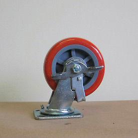 """6"""" Polyurethane Swivel Caster with Brake 6229-SR-BK for Little Giant® Carts"""