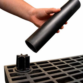"Structural Plastic Shelf Leg 24"", Black"