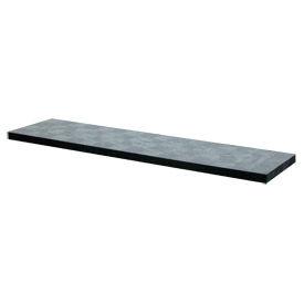"Structural Plastic Solid Shelf, 96""W x 24""D, Black"