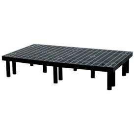 "Plastic Dunnage Rack with Vented Top 66""W x 36""D x 12""H"