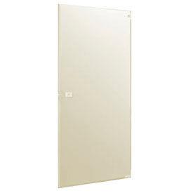 "Polymer Outward Swing Partition Door - 23-3/5"" W x 55"" H Cream"