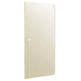 "Polymer Inward Swing Partition Door - 25-3/5"" W x 55"" H Cream"