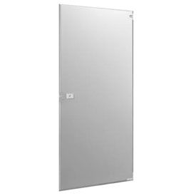 """Polymer Outward Swing Partition Door - 25-3/5"""" W x 55"""" H Gray"""