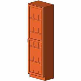 "Diversified Woodcrafts Wood Solid Door Tall Storage Cabinet 313-2416 - 24""W x 16""D x 84""H- Pkg Qty 1"