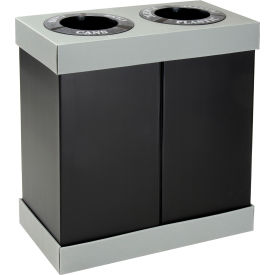 Safco® 2-In-1 Disposable Recycling Center 9794BL (2) 28 Gallon - Corrugated Plastic