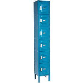 Global™ Locker Six Tier 12x18x12 6 Door Ready To Assemble Blue