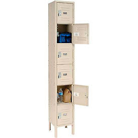 Infinity™ Locker Six Tier 12x18x12 6 Door Assembled Tan