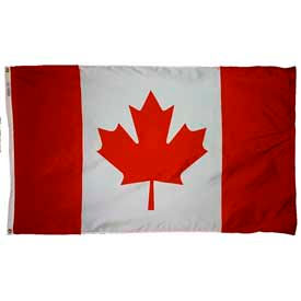 5 x 8 ft Nylon Canada Flag- Pkg Qty 1