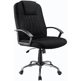 Interion® Executive Office Chair - Tissu - Haut-Dos - Noir
