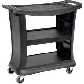 Rubbermaid® 9T68 Black Executive Service Cart 39 x 21 x 38 300 Lb. Capacity