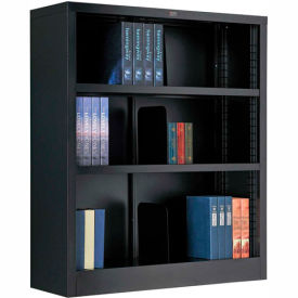 """All Steel Bookcase 36"""" W x 12"""" D x 42"""" H Black 3 Openings"""