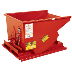 Modern Equipment MECO SDHX250 2-1/2 Cu. Yd. Orange Extra Heavy Duty Hopper