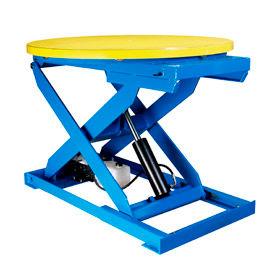 "Bishamon® OPTIMUS® Lift3K Lift Table 43"" Dia. Turntable 3000 Lb. Cap. Hand Control L3K-TT"