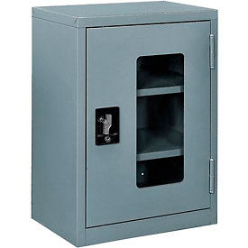 """Global™ Clear View Wall Storage Cabinet Assembled 18""""W x 12""""D x 26""""H Gray"""