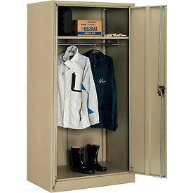 Global™ Wardrobe Cabinet Assembly 36x24x72 Tan