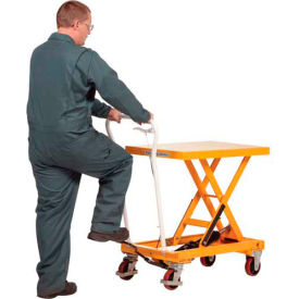 Auto-Shift Hydraulic Elevating Mobile Lift Table CART-550-AS 550 Lb.