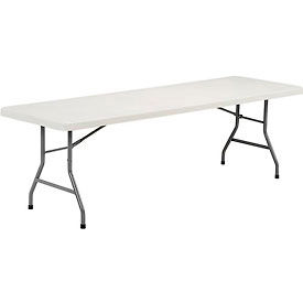 8' Plastic Folding Table - White