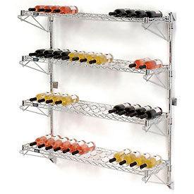 """Wine Bottle Rack - Wall Mount 52 Bottle 48"""" x 14"""" x 54"""""""