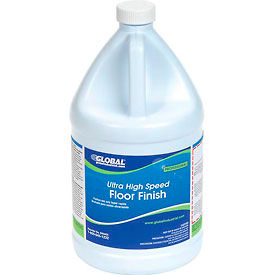 Global Industrial™ Ultra High Speed Floor Finish, Gallon Bottle, 4 Bottles -
