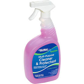 Global Industrial™ Multi-Purpose Cleaner & Protectant - Case Of Six 1 Quart Bottles