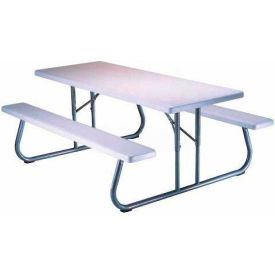 """Lifetime® Fold-Away Picnic Table 72"""" x 30"""" - White"""