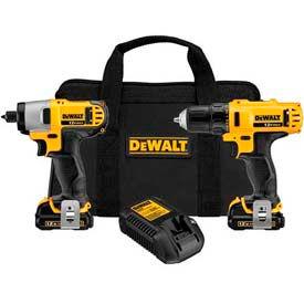 DeWALT DCK211S2 12V Max Li-Ion Drill/Impact Combo Kit