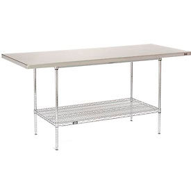 """72""""W x 30""""D Stainless Steel Top Wire Work Table"""