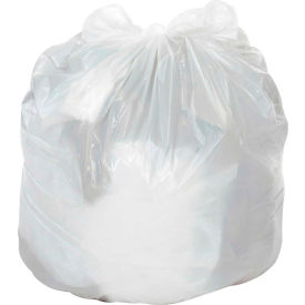 Global Industrial™ Medium Duty White Trash Bags - 12 to 16 Gal, 0.5 Mil, 500 Bags/Case