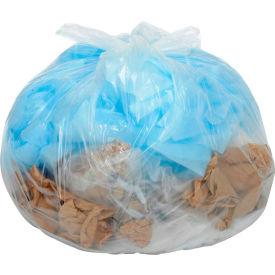 Global Industrial™ Medium Duty Clear Trash Bags - 55 to 60 Gal, 0.75 Mil, 100 Bags/Case
