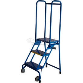 "3 Step 10"" Deep Step Lock-N-Stock Folding Aluminum Ladder - ALS32410"