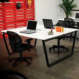 """Collaboration Table - Double - 60""""W x 60""""D x 30""""H - Gray"""