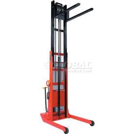 "Wesco® 5th Wheel Steer Lift Stacker 261115 96"" Lift Adj. Base 2000 Lb. Cap."