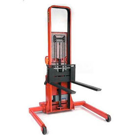 "Wesco® Battery Powered Lift Truck 261054 2000 Lb. 76""H Adj. Strd. 42"" Forks"