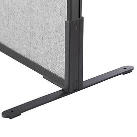 "8""H T-Leg Bracket for Office Partition Panels, Black (1 Pair)"