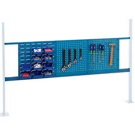 """Mounting Kit with 18""""W Louver and 36""""W Pegboard for 72""""W Workbench - Blue"""