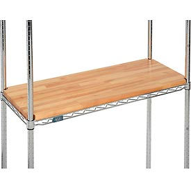 """Hardwood Deck Overlay for Wire Shelving 36""""W x 24""""D x 1""""Thick"""