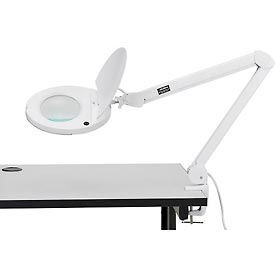 Global™ 8 Diopter LED Magnifying Lamp With Covered Metal Arm, White