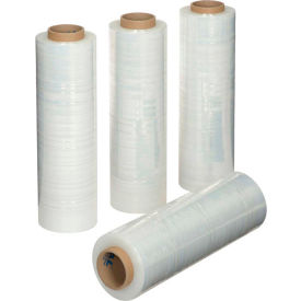 "Stretch Wrap Film 18"" x 1500' x 70 Gauge Clear For Hand Dispenser - Pkg Qty 4"