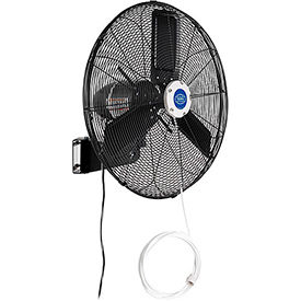 24 Inch Outdoor Misting Oscillating Wall Mounted Fan 3/10 HP 7,700 CFM