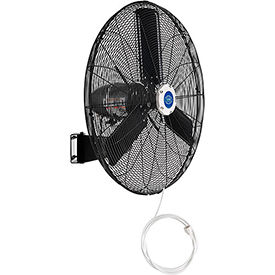 Outdoor Misting Oscillating Wall Mounted Fan, 30 Inch Diameter, 3/10 HP, 8,400 CFM