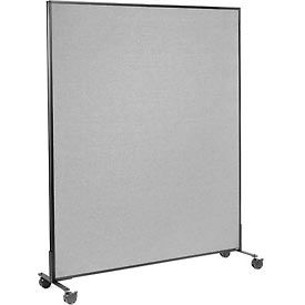 """Mobile Office Partition Panel, 60-1/4""""W x 75""""H, Gray"""