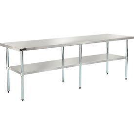 "Stainless Steel Workbench - 96""W x 30""D 18 Gauge w/ Undershelf"