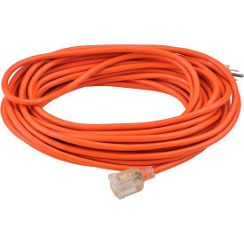 Global™ 50 Ft. Outdoor Extension Cord w/ Lighted Plug, 16/3 Ga, 13A, Orange