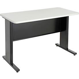 "48""W x 24""D x 30""H Plastic Laminate Work Desk - Black"