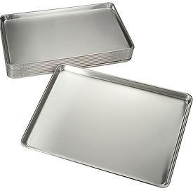 "Nexel® BP1826 Bun Pan, Full Size, 18""W x 26""D, 18 Ga. Aluminum, Wire Reinforced Edge - Pkg Qty 12"