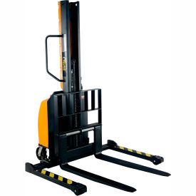 "Vestil Narrow Mast Stacker SLNM-63-AA Adjustable Forks & Legs 1000 Lb. Cap. 63"" Lift"
